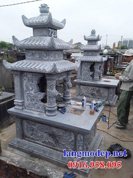 15 Mẫu mộ đá ba tầng mái đao đẹp bán tại phú thọ