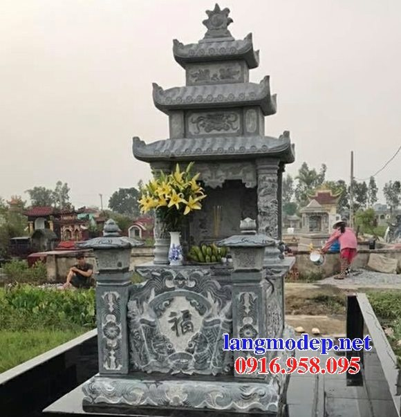18 Mẫu mộ đá ba mái đẹp cất để hài tro cốt bán tại bình phước