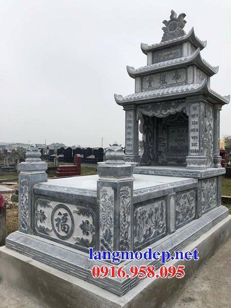 18 Mẫu mộ đá ba mái đẹp cất để hài tro cốt bán tại vĩnh long