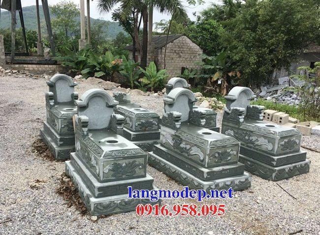 18 Mẫu mộ đá không mái bằng đá xanh thanh hóa bán tại đắk nông