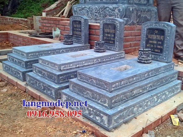 18 Mẫu mộ đá không mái bằng đá xanh thanh hóa bán tại bình phước