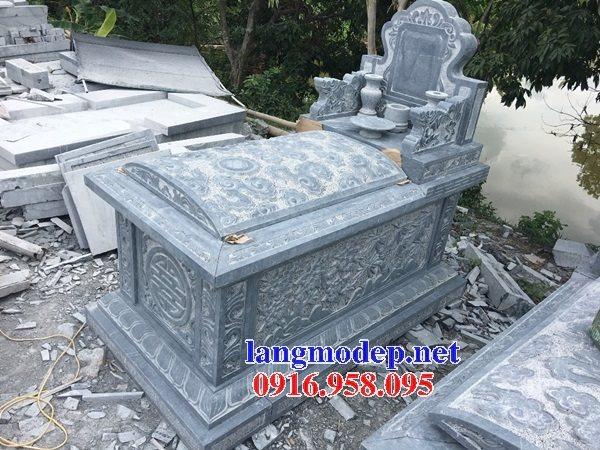 18 Mẫu mộ đá không mái bằng đá xanh thanh hóa bán tại hải phòng