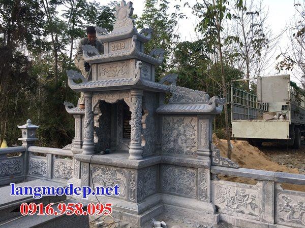 25 Mẫu lăng mộ đá xanh thanh hóa đẹp