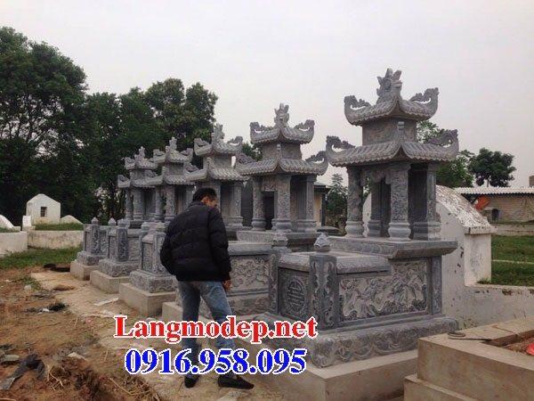 Các kiểu mẫu mộ đá xanh rêu hai mái đẹp bán tại đà nẵng