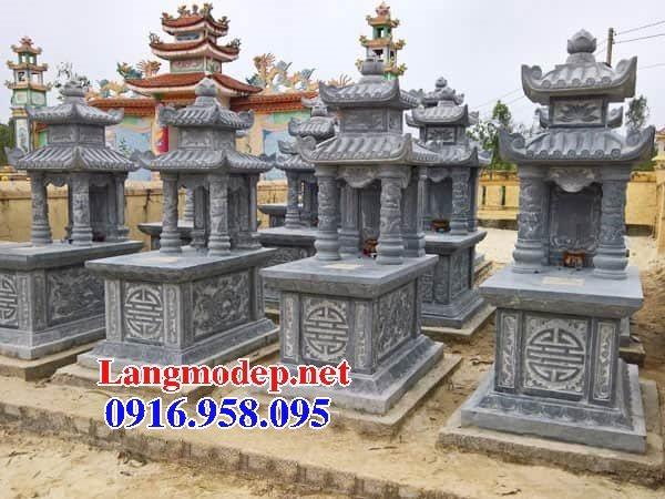Các kiểu mẫu mộ đá xanh rêu hai mái đẹp bán tại khánh hòa
