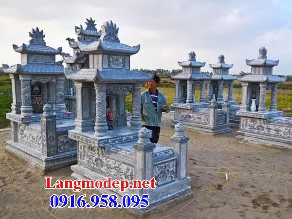 Các kiểu mẫu mộ đá xanh rêu hai mái đẹp bán tại phú yên