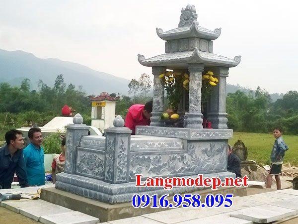 Các kiểu mẫu mộ đá xanh rêu hai mái đẹp bán tại thừa thiên huế