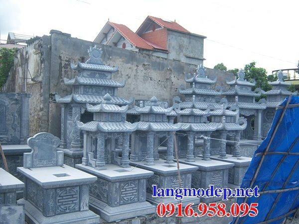 Các kiểu mẫu mộ đá xanh thanh hóa hai mái đẹp