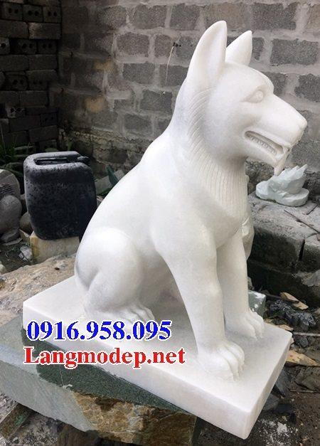 Các mẫu chó phong thủy canh cổng đình chùa nhà thờ họ đẹp bằng đá bán tại bắc giang