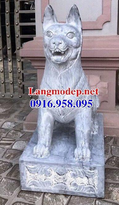 Các mẫu chó phong thủy canh cổng đình chùa nhà thờ họ đẹp bằng đá bán tại bắc ninh