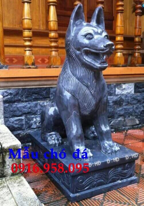 Các mẫu chó phong thủy canh cổng đình chùa nhà thờ họ đẹp bằng đá bán tại hải dương