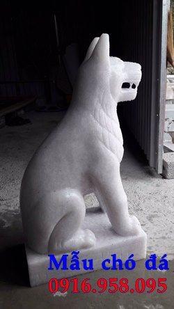 Các mẫu chó phong thủy canh cổng đình chùa nhà thờ họ đẹp bằng đá bán tại hải phòng