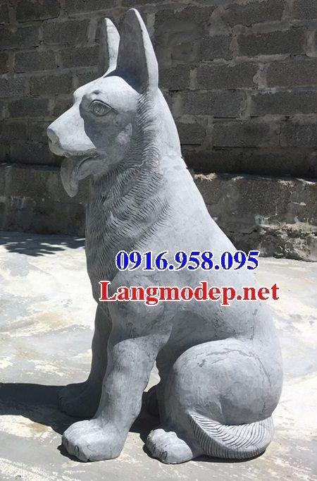 Các mẫu chó phong thủy canh cổng đình chùa nhà thờ họ đẹp bằng đá bán tại lạng sơn