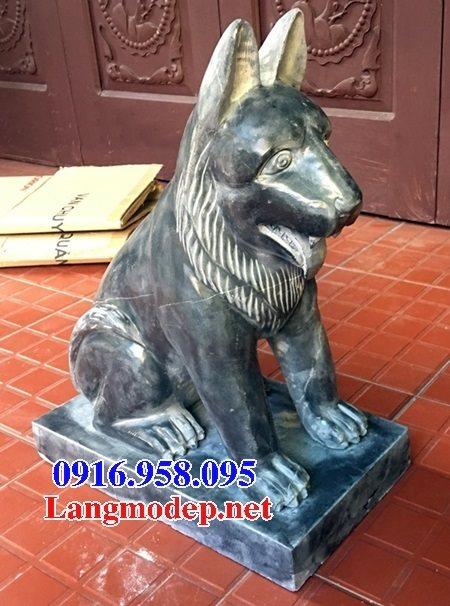 Các mẫu chó phong thủy canh cổng đình chùa nhà thờ họ đẹp bằng đá bán tại sài gòn
