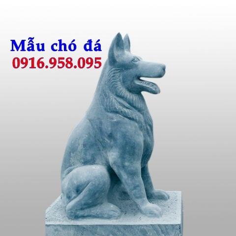 Các mẫu chó phong thủy canh cổng đình chùa nhà thờ họ đẹp bằng đá bán toàn quốc