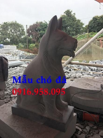 Các mẫu chó phong thủy canh cổng đẹp bằng đá mỹ nghệ ninh bình