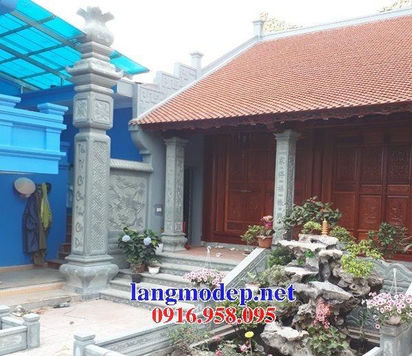 12 Mẫu cột đá đồng trụ đình đền chùa chạm khắc hoa văn