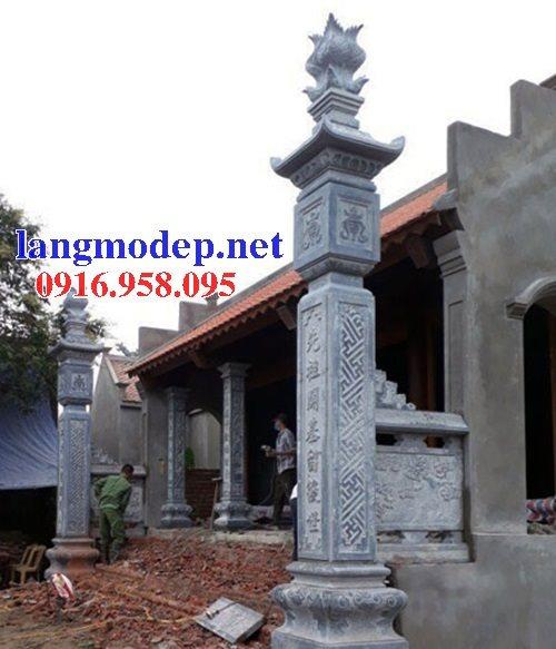 12 Mẫu cột đá đồng trụ chạm khắc hoa văn bán tại nam định