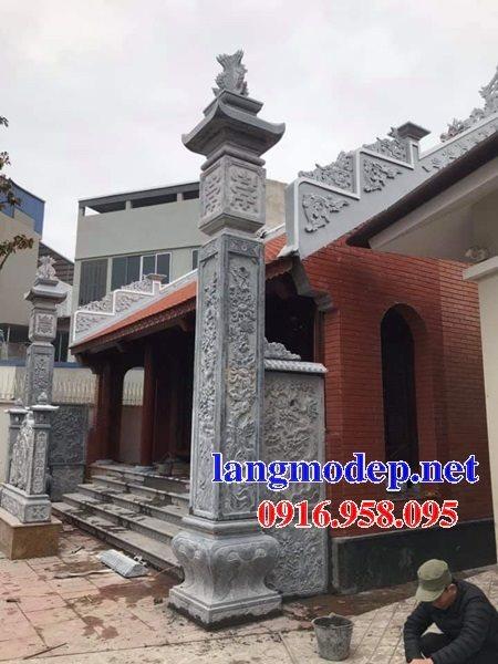 12 Mẫu cột đá đồng trụ chạm khắc hoa văn