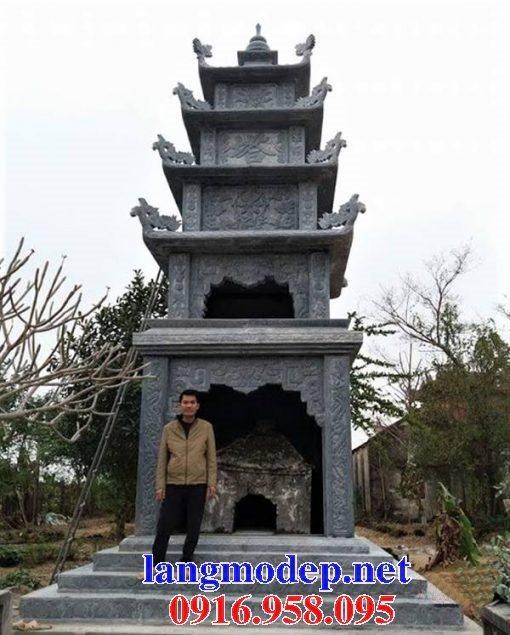 16 Mẫu mộ tháp đá xanh tự nhiên đẹp