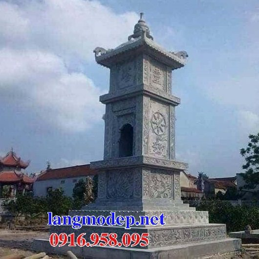 16 Mẫu mộ tháp xây bằng đá đẹp