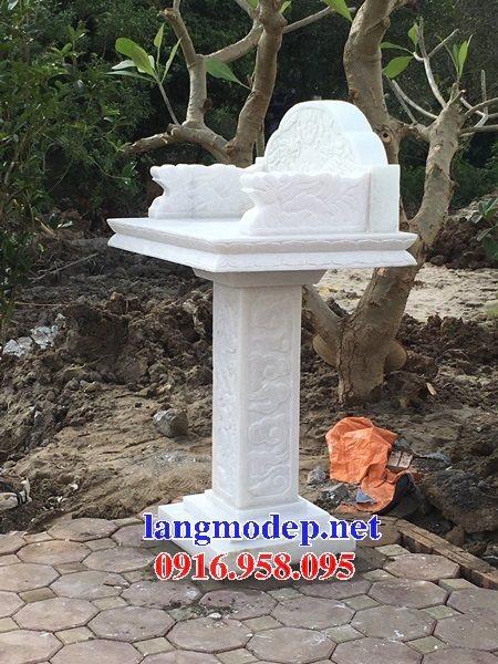 38 Mẫu bàn thờ ông thiên ngoài trời đẹp bằng đá chạm khắc hoa văn