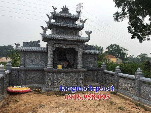 Các mẫu lăng mộ đá chạm khắc hoa văn đẹp bán tại Ninh Bình