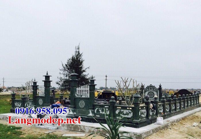 Các mẫu lăng mộ đá xanh rêu đẹp bán tại Ninh Bình