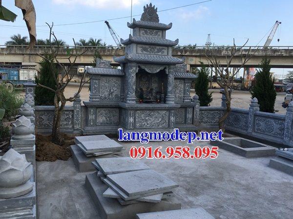 Các mẫu lăng mộ đá xanh thiết kế hiện đại đẹp bán tại Ninh Bình