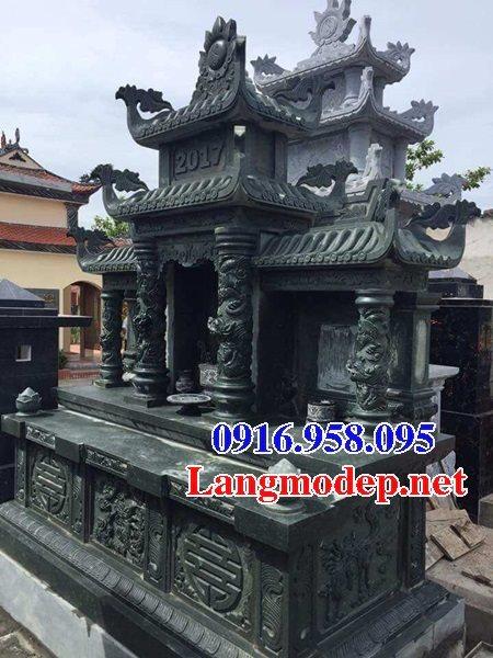 Các mẫu lăng thờ chung nghĩa trang lăng mộ gia đình bằng đá xanh rêu đẹp bán tại Ninh Bình
