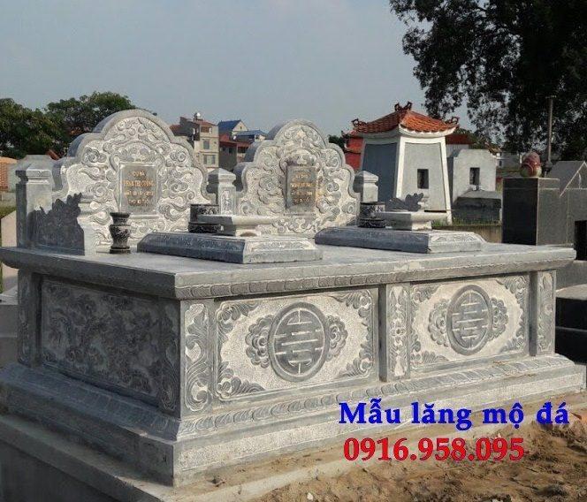 Các mẫu mộ đá đôi đơn giản đẹp bán tại Ninh Bình