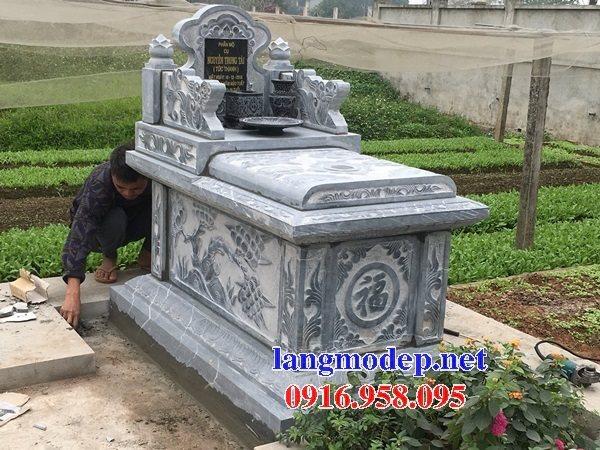 Các mẫu mộ đá đơn giản không mái đẹp bán tại Ninh Bình