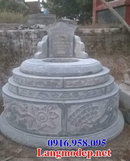 Các mẫu mộ đá tròn chạm khắc hoa văn đẹp bán tại Ninh Bình