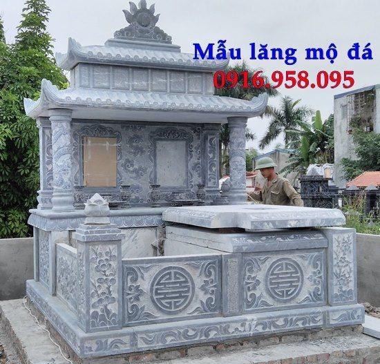 Các mẫu mộ đá xanh đôi hai ngôi liền nhau đẹp bán tại Ninh Bình