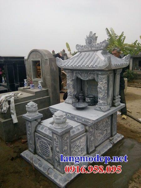 Các mẫu mộ đá xanh một mái thiết kế hiện đại đẹp bán tại Ninh Bình