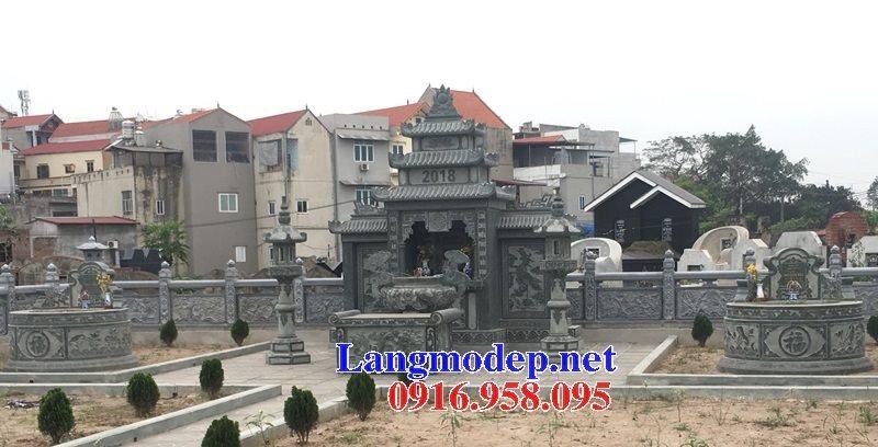Các mẫu mộ đá xanh rêu hình tròn đẹp bán tại Ninh Bình