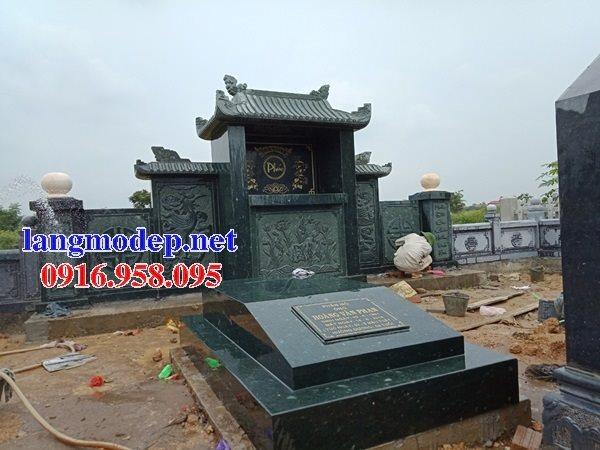Các mẫu mộ đá xanh rêu không mái đẹp bán tại Ninh Bình