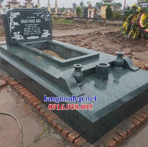 Các mẫu mộ tam cấp hiện đại bằng đá xanh rêu đẹp bán tại Ninh Bình