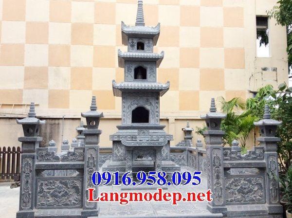 Các mẫu mộ tháp đá chạm khắc hoa văn phật giáo đẹp bán tại Ninh Bình