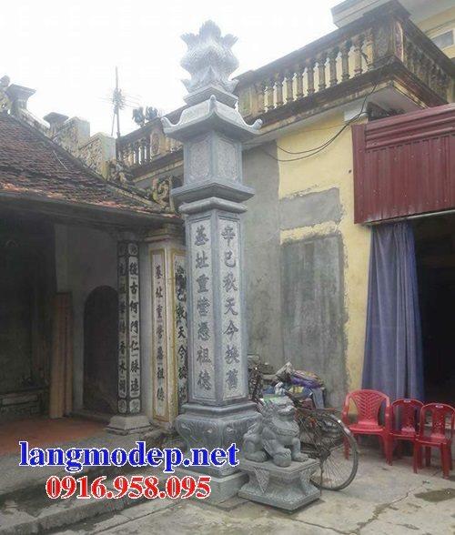 Mẫu cột đồng trụ đá xanh mỹ nghệ Ninh Bình