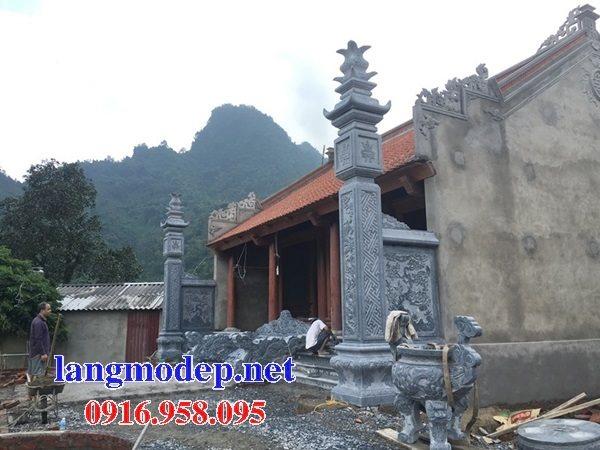 Mẫu cột đồng trụ đình đền chùa đá mỹ nghệ Ninh Bình đẹp