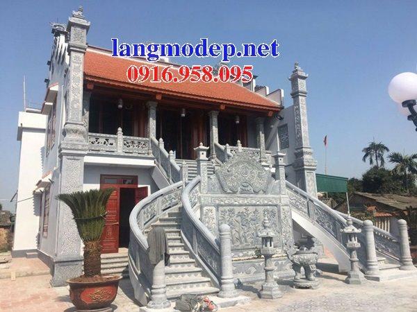 Mẫu cột đồng trụ nhà thờ họ từ đường gia tộc tổ tiên đá mỹ nghệ Ninh Bình đẹp