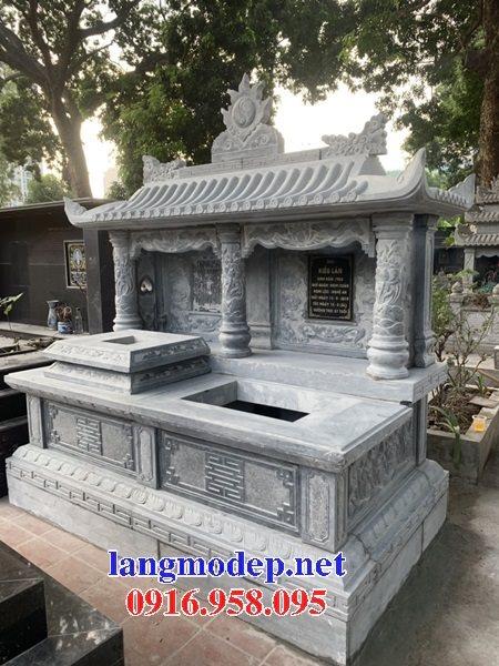Mẫu mộ đôi xây bằng đá đẹp