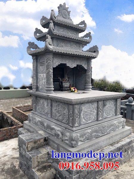 Mẫu mộ đôi xây bằng đá ninh bình đẹp