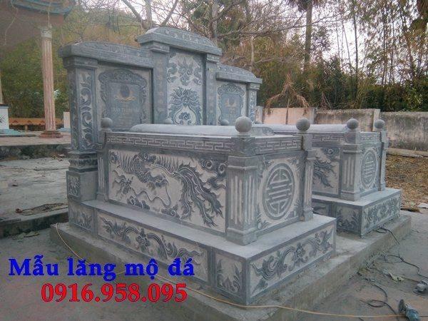 Thiết kế mộ đôi bằng đá đẹp