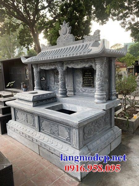 Thiết kế mộ đôi gia đình bằng đá đẹp