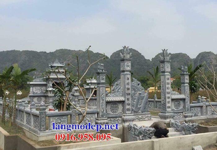 Thiết kế nghĩa trang gia đình dòng họ đẹp bằng đá tự nhiên nguyên khối