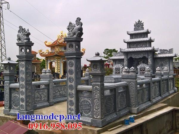 Thiết kế xây nghĩa trang gia đình dòng họ đẹp bằng đá