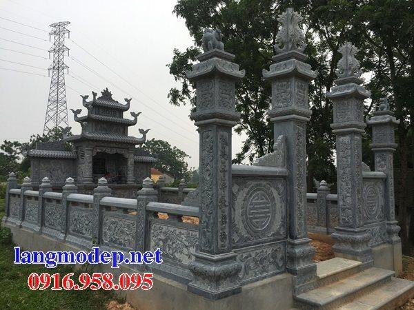 Xây nghĩa trang gia đình bằng đá đẹp chạm khắc hoa văn tinh xảo
