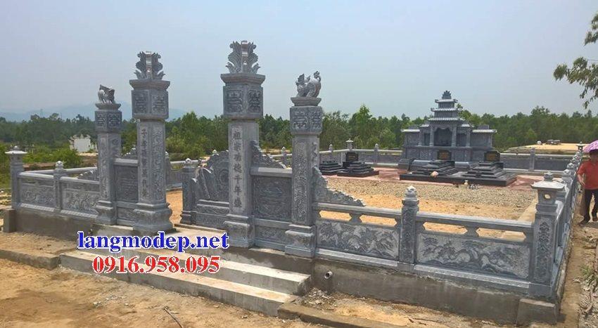 Xây nghĩa trang gia đình dòng họ bằng đá đẹp